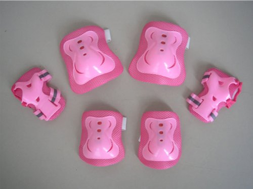 Cheap Fantasycart Kid's Roller Blading Wrist Elbow Knee Pads Blades Guard 6 PCS Set in Pink