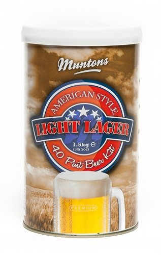 Muntons American Style Light Beer Making Kit, 53-Ounce Can from Muntons