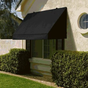 Fully Retractable Classic Awning in UV-Resistant Fabric - 8-Feet Width (Ebony) image