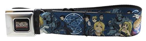 Fullmetal Alchemist Brotherhood Seatbelt Belt Characters Collage Blue