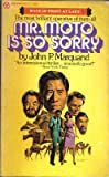 Mr. Moto is So Sorry (0445040335) by John P. Marquand