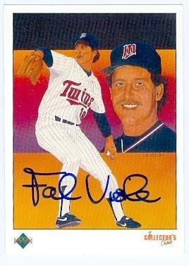 Frank Viola autographed baseball card (Minnesota Twins) 1989 Upper Deck #691