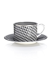 Deco Geometric Cup & Saucer Set
