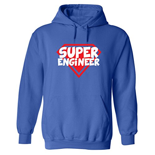 Mashed Clothing Super Engineer Adult Hooded Sweatshirt (Royal Blue, Xl)