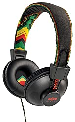 House of Marley EM-JH011-RA Positive Vibration Jammin On-ear Headphone with 1-Button Mic - Rasta