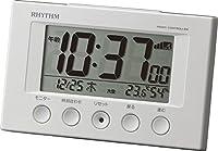 リズム時計 RHYTHM 電波目覚まし時計 フィットウェーブスマート ホワイト 8RZ166SR03
