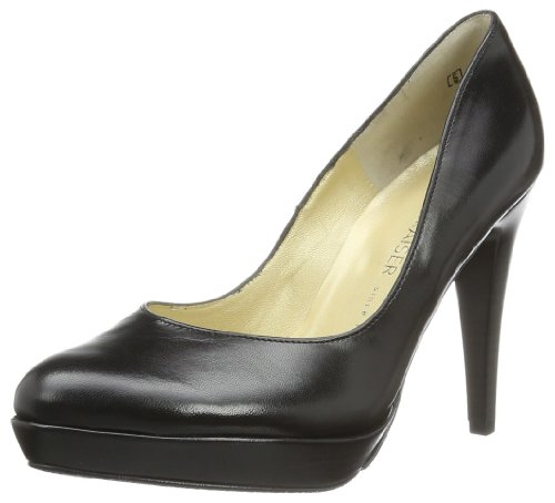 Peter Kaiser Women's NIXE Court Shoes Black Noir - Schwarz (SCHWARZ CHEVRO) 4 (37 EU)