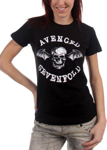 Avenged Sevenfold-Classic Deathbat-Maglietta da ragazza Black Large