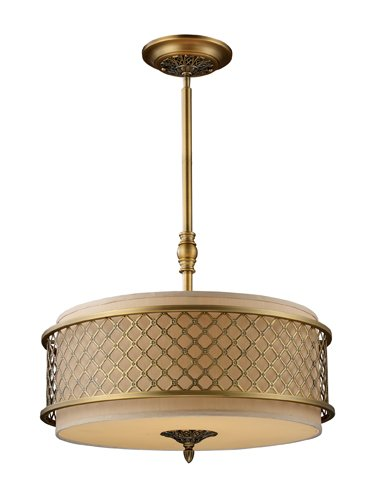 B004LWIOJM Elk 31033/4 Chester 4-Light Pendant In Brushed Antique Brass
