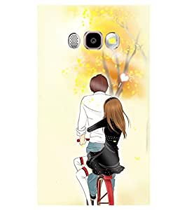 Printvisa Romantic Pair On A Bicycle Back Case Cover for Samsung Galaxy J5 (2016)::Samsung J510F