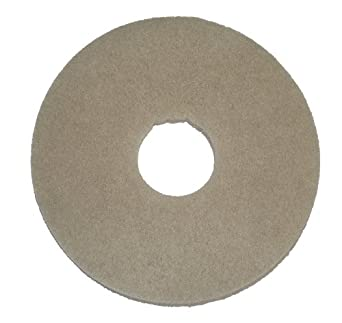 "Oreck Commercial 437058 Stone Care Orbiter Pad, 12"" Diameter, Grey, For ORB550MC Orbiter Floor Machine"