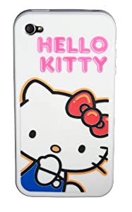 Hello Kitty iPhone 4 Silicone Case White