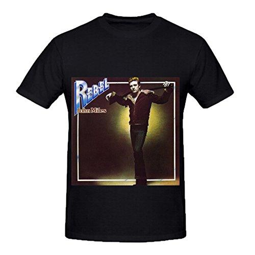 John Miles Rebel R&B Album Cover Men Crew Neck Art Tee Shirts Black (Uga Twin Quilt compare prices)
