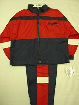 Atlanta Braves Infants / Babys / Kids 2 pc Red Wind Suit jacket and pants
