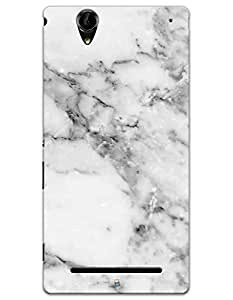 White Marble case for Sony Xperia T2