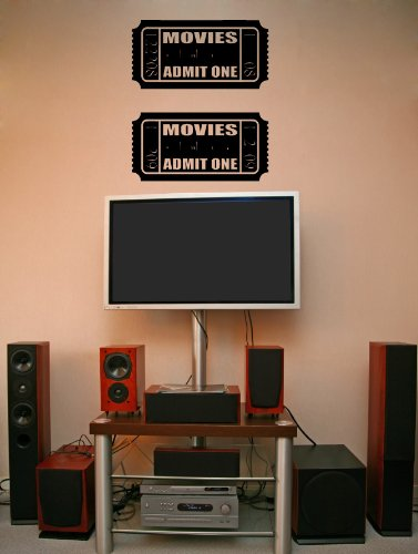 Big Movie Tickets Theater - Vinyl Wall Art Decal Stickers Decor Graphics