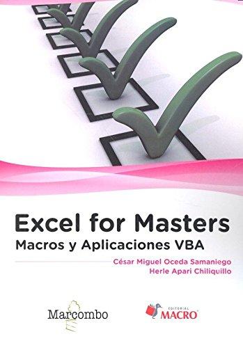 Excel for Masters . Macros y Aplicaciones VBA