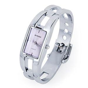 Elegant Ladies Dial Quartz Bangle Wristwatch---Light Purple