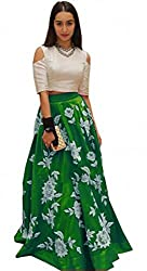 Dipak Fashion New Designer Green Fancy Printed Silk Gown For Women