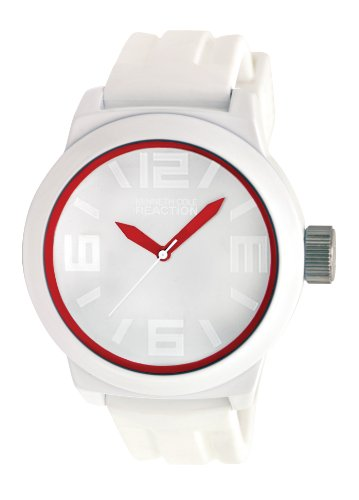 Kenneth Cole Reaction Men's RK1241 Triple White Red Details Watch
