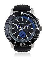 Sparco Reloj Man Jackie Negro / Azul 42 mm