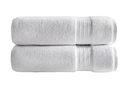 SALBAKOS Luxury Turkish 2 Piece Bath Sheet Towel Set, 60