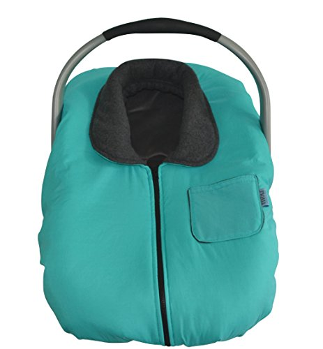 Tivoli Couture Infant Car Seat Jacket and Weather Cold Resistant Car Seat Cover Bunting, Turquoise
