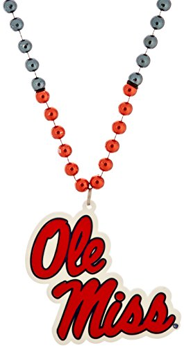 NCAA Mississippi Old Miss Rebels 2012 Team Logo Beads Necklace
