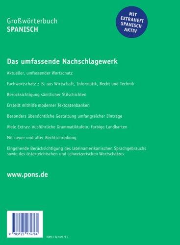 PONS Großwörterbuch Spanisch. Spanisch - Deutsch / Deutsch - Spanisch