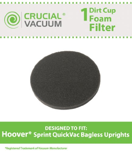 1-hoover-dirt-cup-foam-filter-fits-hoover-sprint-quickvac-bagless-upright-model-uh20040-compare-to-p