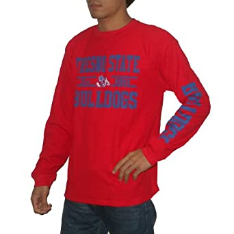 NCAA Fresno State Bulldogs Mens Thermal Knit Long Sleeve Pullover Sweatshirt by NCAA