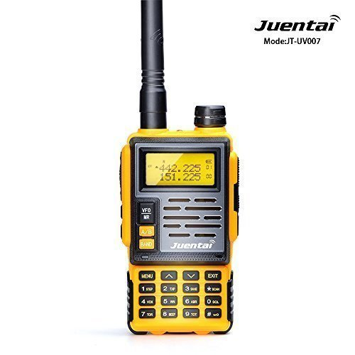 JUENTAI JT-UV007 Dual-Band Ham Two-Way Radio UHF 400-480Mhz VHF 137-174Mhz Fm Transceiver Height Power:7w FM Radio 65-105MHz Amateur Radio For DTMF CTCSS DCS FM (Yellow)