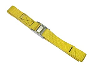 Custom Leathercraft 2WS04 Strap-It Web Tie Down Straps, Yellow, 4-Foot, 2-Pack