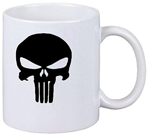 Da Immagine 3820 Punisher panico biscotti Nerd schianterai in ceramica Altezza 9,5 cm N.? 8 cm colore bianco
