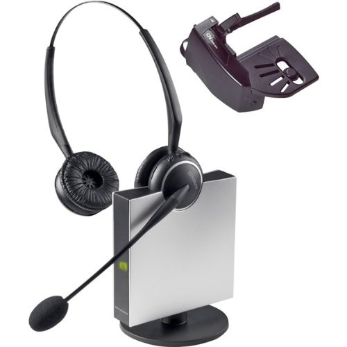 Brand New Jabra Wireless Flexboom Duo Headset With Noise Canceling Microphone