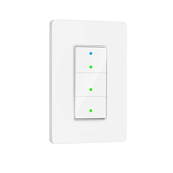 Smart Light Switch, 3 Way WiFi Smart Switch Button, Compatible with Alexa and Google Home, Remote Control with Timing Funtion, No Hub Required,Smart Life APP Provides Control from Anywhere (Tamaño: 3 Ways in 1 Gang)