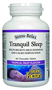 Natural Factors Stress-Relax Tranquil Sleep Chewable Tablets, 60-Count