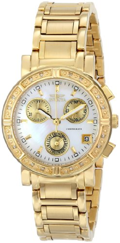 Invicta Specialty Women's Quartz Watch with Mother Of Pearl Dial  Chronograph display on Gold Stainless Steel Bracelet 4720