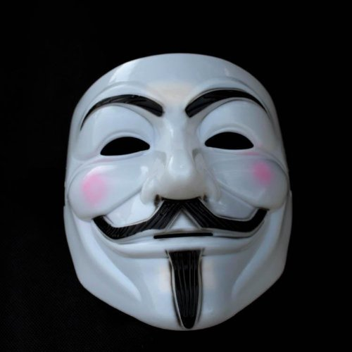 V for Vendetta Mask White Hard Plastic Guy Fawkes