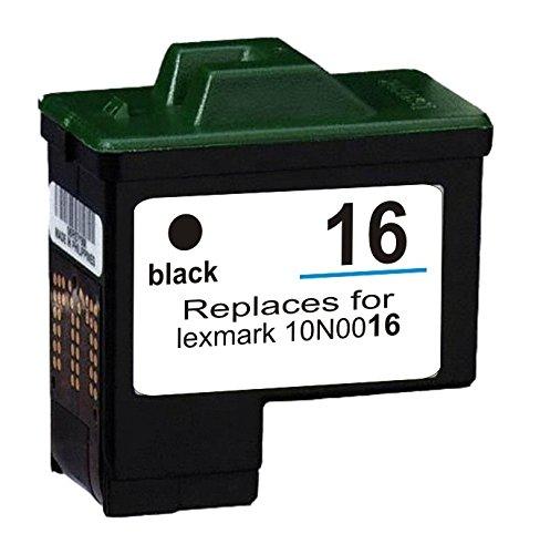 1 SCHWARZ Druckerpatrone kompatibel für Lexmark 16, Lexmark i3, X1100, X1110, X1130, X1140, X1150, X1155, X1160, X1170, X1180, X1185, X1190 All-in-One, X1240, X1250, X1270, X1290, X2230, X2240, X2250, X72, X74, X75, Z13, Z23, Z23e, Z24, Z25, Z25L, Z33, Z34, Z35, Z512, Z513, Z515, Z517, Z592, Z593, Z597, Z600, Z601, Z602, Z603, Z604, Z605, Z607, Z608, Z612, Z613, Z614, Z615, Z617, Z640, Z645, Z713, Z75, Compaq IJ650, IJ652