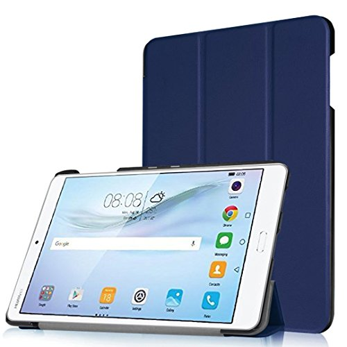 Huawei MediaPad M3 Case, TopAce PU Leather Smart Case With Stand Function For Huawei MediaPad M3 8.4 Inch (Blue)