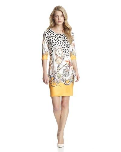Bacci Dresses Women's Brooke Cropped Sleeve Animal Print Dress