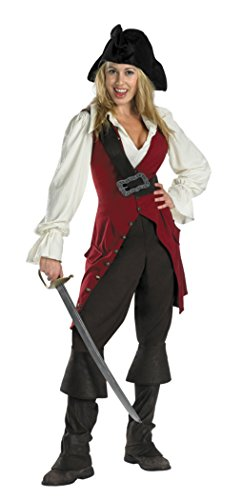Disguise Womens Disney Deluxe Pirates Of The Caribbean Elizabeth Pirate Costume