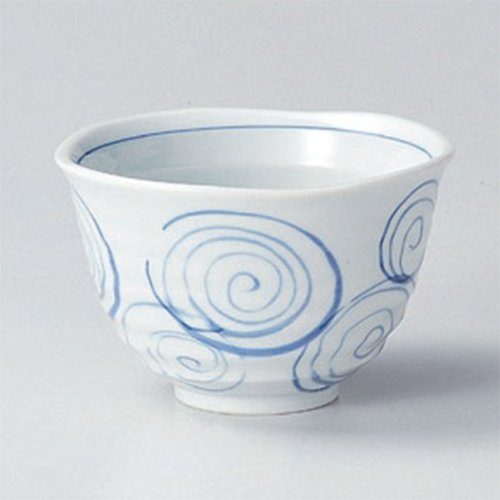 Ramen Soba Udon Noodle Bowl utw411-14-214 [4.7 x 3.4 inch] Japanece ceramic C'mon Fuchi-ha heavy pot tableware (Udon Noodle Pot compare prices)