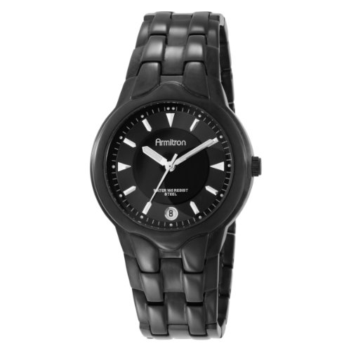 Armitron Men's 201897BKTI Black Stainless Steel Watch