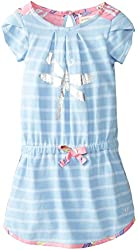 Hatley Little Girls' Petal Sleeve Dress Dragonflies