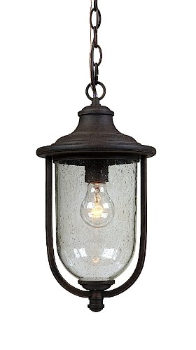 Artcraft Lighting AC8045BZ Monterey Bay Outdoor Chain Pendant Light, Rich Bronze
