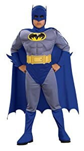 Batman Deluxe Muscle Chest Batman Child's Costume, Small