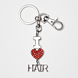 I Heart Hair Key Chain