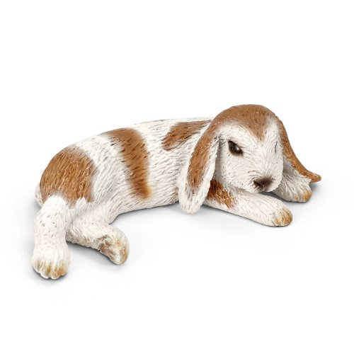 Schleich Lying Dwarf Lop Toy Figure - 1